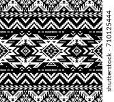 black and white tribal vector... | Shutterstock .eps vector #710125444