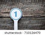 plate number on a old wooden... | Shutterstock . vector #710126470