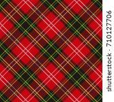 seamless tartan plaid pattern.... | Shutterstock .eps vector #710127706