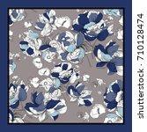 silk scarf design for fabrics ... | Shutterstock . vector #710128474