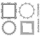 decorative frames | Shutterstock .eps vector #710134840