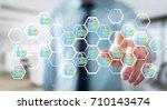 businessman on blurred... | Shutterstock . vector #710143474