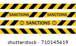 yellow warning tape with the...   Shutterstock .eps vector #710145619