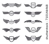 flying eagle wings vector logos ... | Shutterstock .eps vector #710146468