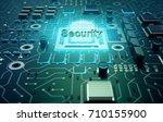 security concept  circuit board ... | Shutterstock . vector #710155900