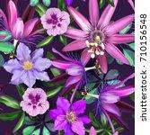 beautiful seamless vector... | Shutterstock .eps vector #710156548
