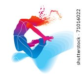 the dancer. colorful silhouette ... | Shutterstock .eps vector #71016022