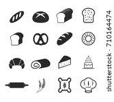 vector of bakery bread icons   Shutterstock .eps vector #710164474