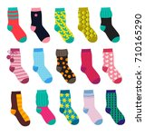 funny socks with different... | Shutterstock .eps vector #710165290