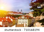 prague is the capital of the...   Shutterstock . vector #710168194