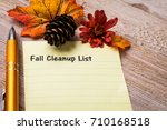 fall cleaning list concept on... | Shutterstock . vector #710168518