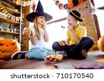 treat or trick  low angle shot... | Shutterstock . vector #710170540