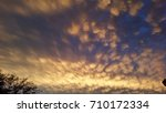 mammatus clouds with a tree | Shutterstock . vector #710172334