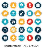 christmas icons | Shutterstock .eps vector #710175064