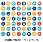 commerce icons | Shutterstock .eps vector #710175076