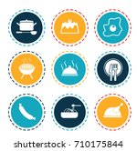 cooking icons | Shutterstock .eps vector #710175844