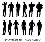collection of male fashion... | Shutterstock .eps vector #710176090