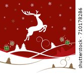a christmas design with... | Shutterstock .eps vector #710178286