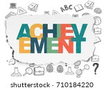 education concept  painted...   Shutterstock . vector #710184220