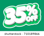sale tag  discount 35  off ... | Shutterstock .eps vector #710189866