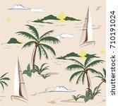 beautiful seamless island... | Shutterstock .eps vector #710191024