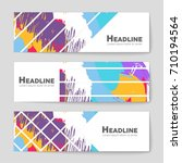 abstract vector layout... | Shutterstock .eps vector #710194564