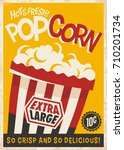 popcorn retro poster design... | Shutterstock .eps vector #710201734