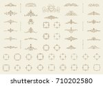 vintage decor elements and... | Shutterstock . vector #710202580