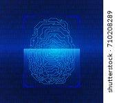 fingerprint scan blue hi tech...
