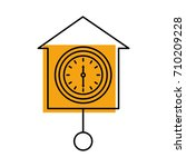 wall clock icon object time... | Shutterstock .eps vector #710209228