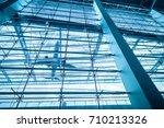 upward view of airport terminal ... | Shutterstock . vector #710213326