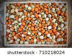 a wide variety of eggs. a...   Shutterstock . vector #710218024