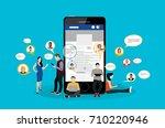 social network  people... | Shutterstock .eps vector #710220946