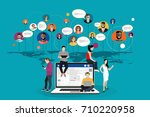 social network  people... | Shutterstock .eps vector #710220958