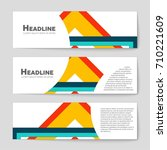 abstract vector layout... | Shutterstock .eps vector #710221609