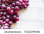 bunches of fresh ripe red... | Shutterstock . vector #710229448