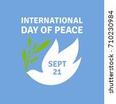 greeting card for international ... | Shutterstock .eps vector #710230984