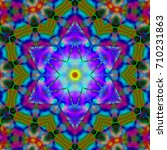 psychedelic background. modern... | Shutterstock . vector #710231863
