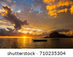 fabulous view of the sunset in... | Shutterstock . vector #710235304