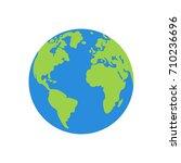 vector planet earth icon. | Shutterstock .eps vector #710236696