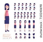 young lady character for your... | Shutterstock .eps vector #710240698