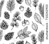 seamless pattern. hand drawn... | Shutterstock .eps vector #710242903