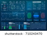 vector hud elements set for... | Shutterstock .eps vector #710243470