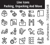 pack unpacking and move... | Shutterstock .eps vector #710244148