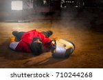 first aid training in the... | Shutterstock . vector #710244268
