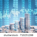 graph coins stock finance and... | Shutterstock . vector #710251288