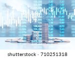 graph coins stock finance and... | Shutterstock . vector #710251318