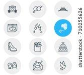 vector illustration of 12... | Shutterstock .eps vector #710255626