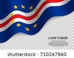 waving flag of cape verde on... | Shutterstock .eps vector #710267860
