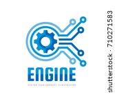 technology engine   vector logo ...   Shutterstock .eps vector #710271583